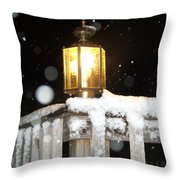 Porch Lamp Throw Pillow by Nelson Watkins