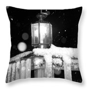 Porch Light Bw Throw Pillow