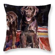 Porch Light Throw Pillow by Molly Poole