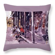 Afternoon People Throw Pillow
