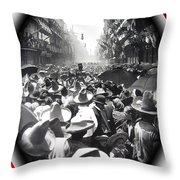 Porfirio Diaz Celebrating Republican President Benito Juarez July 1910 April 25 1911   Throw Pillow