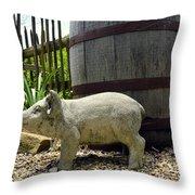 Pork Barrel Throw Pillow