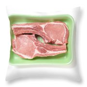 Pork Ribs With Fillet Throw Pillow