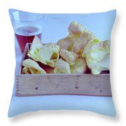 Pork Rinds With A Pint Throw Pillow