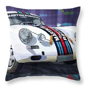 Porsche 356 Martini Racing Throw Pillow