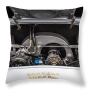 Porsche 356b Super 90 Engine Throw Pillow