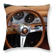 Porsche 356b Super 90 Interior Throw Pillow