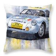 Porsche 550 Coupe 154 Carrera Panamericana 1953 Throw Pillow by Yuriy  Shevchuk