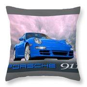 Porsche 911 No 1 Throw Pillow