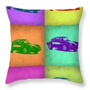 Porsche 911 Pop Art 2 Throw Pillow by Naxart Studio