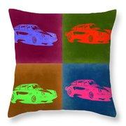 Porsche 911 Pop Art 3 Throw Pillow