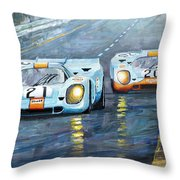 Porsche 917 K Gulf Spa Francorchamps 1971 Throw Pillow