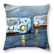 Porsche 917 K Gulf Spa Francorchamps 1971 Throw Pillow