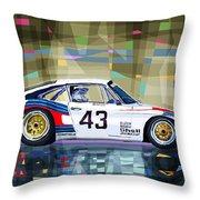 Porsche 935 Coupe Moby Dick Throw Pillow