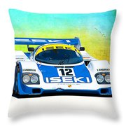 Porsche 956c - 118 Throw Pillow