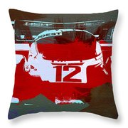 Porsche Le Mans Throw Pillow