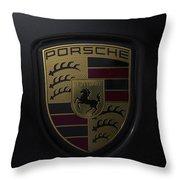 Porsche Logo Throw Pillow