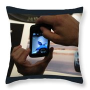 Porsche Photog Throw Pillow