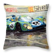 Porsche Psychedelic 917lh  1970  Le Mans 24  Throw Pillow