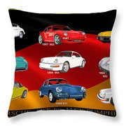 Porsche Times Nine Throw Pillow