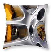 Porsche Wheel Throw Pillow