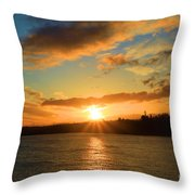 Port Angeles Sunburst Throw Pillow