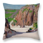 Port Bhan  Iona Throw Pillow by Francis Campbell Boileau Cadell
