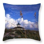 Port Boca Grande Lighthouse Throw Pillow