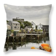 Port Clyde On The Coast Of Maine Throw Pillow