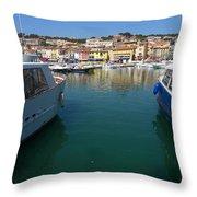 Port De Cassis Throw Pillow