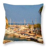 Port De Fontvieille Throw Pillow