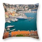 Port Du Nice Throw Pillow