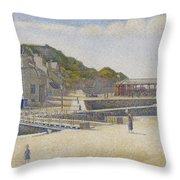 Port En Bessin Throw Pillow