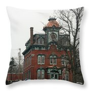 Port Henry Town Hall Throw Pillow