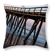 Port Hueneme Pier Askew Throw Pillow