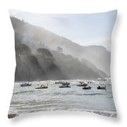 Port In Sestri Levante Throw Pillow