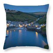 Port Issac Night Throw Pillow