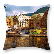 Port Life Throw Pillow