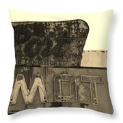 Port Motel Is Closed Throw Pillow