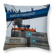 Port Of Charleston Throw Pillow
