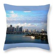 Port Of Miami 3 Throw Pillow