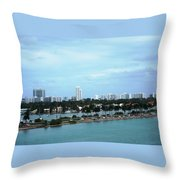 Port Of Miami Throw Pillow