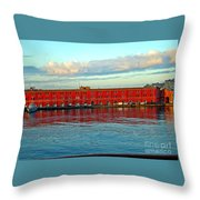 Port Of Naples Throw Pillow