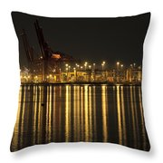 Port Of Vancouver Bc Canada Throw Pillow