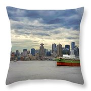Port Of Vancouver Bc Panorama Throw Pillow