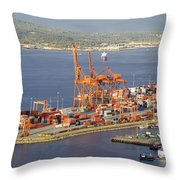 Port Of Vancouver Panorama Throw Pillow