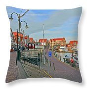 Port Of Volendam Throw Pillow