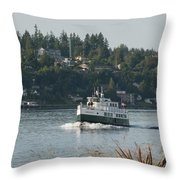 Port Orchard Foot Ferry Throw Pillow