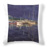 Stary  Port Orchard Night Throw Pillow