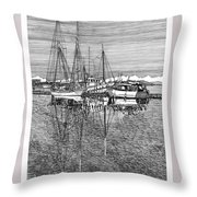 Reflections Of Port Orchard Washington Throw Pillow